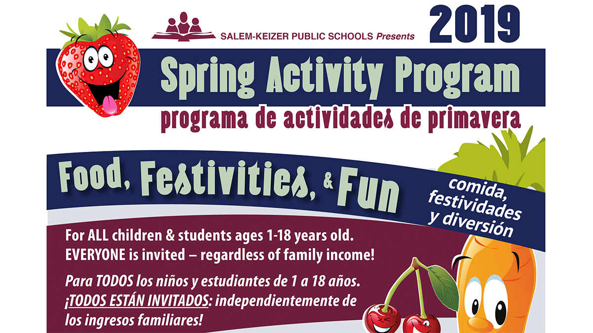 Spring Break FREE Lunch Program 2019 | Programa de actividades de primavera