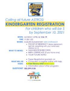 PDF of Kinder Registration 2021-22 in English